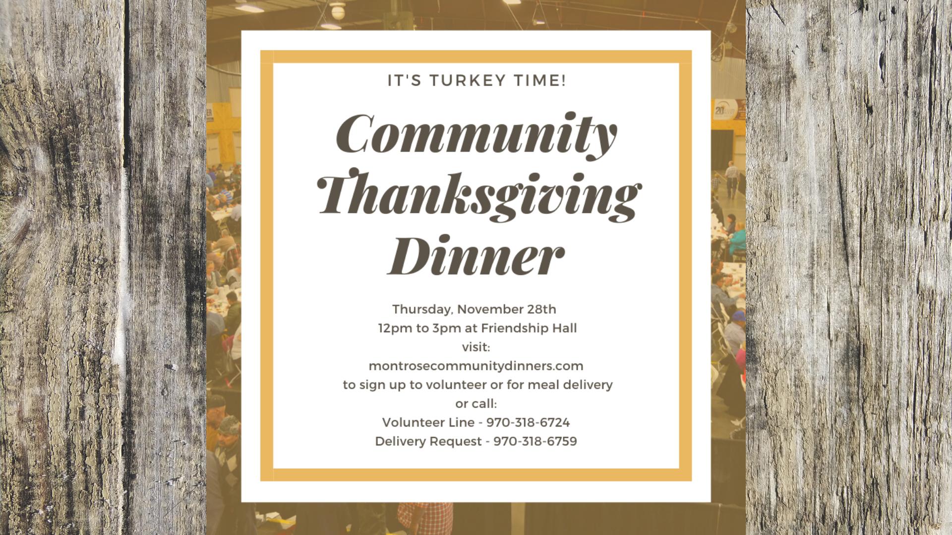 Montrose Community Thanksgiving Dinner