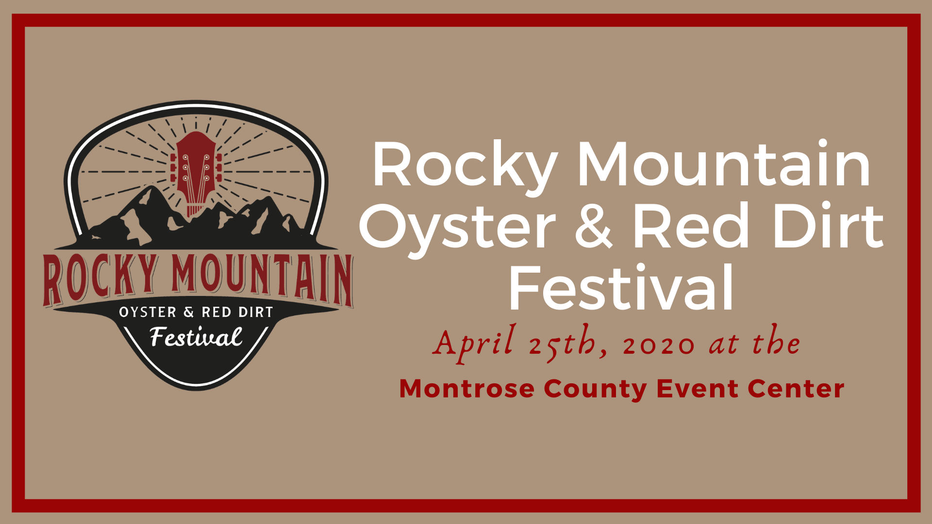 Rocky Mountain Oyster and Red Dirt Festival at Montrose County Event Center